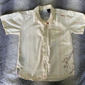 Boys Quicksilver Button Down Shirt Size Large